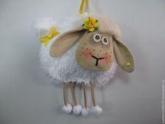 Игрушки животные, ручной работы. Ярмарка Мастеров - ручная работа Новогодняя овечка. Handmade.