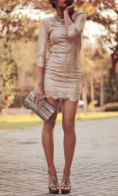 #gold #shimmery #dress