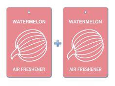 Watermelon Air Freshener Paper Hanging Bar (Pack of 2)/ Car-Home-Office Ecofriendly Pocket Deodorizer