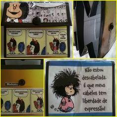 Carteirinha sustentável Mafalda de caixa de leite!!!!