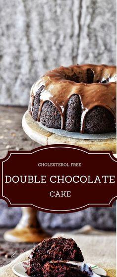 Eggless double chocolate cake