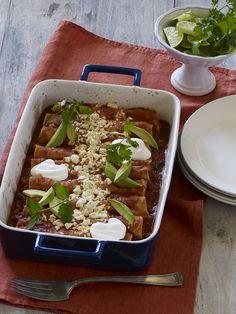 Sweet Potato & Black Bean Enchiladas Recipe | Vegetarian Times
