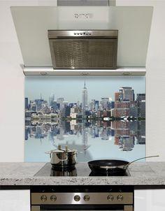 New York Reflection Printed Glass Splashback from DIYSplashbacks.co.uk