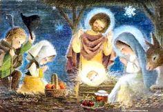 navidad Christmas Nativity, Christmas Art, Christmas Holidays, Mother Mary Images, Jesus Christus, Happy Birthday Jesus, O Holy Night, Holy Family, Vintage Christmas Cards