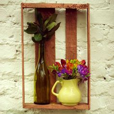 Caixote de feira vira prateleira, jarra vira vaso, folha de louro vira enfeite #EstudioPanelinha