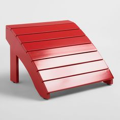 Barbados Red Wood Adirondack Outdoor Patio Footstool By World Market
