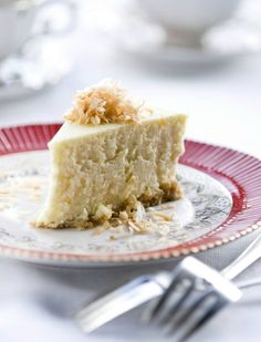 Coconut cheesecake and also recipe for coconut pound cake