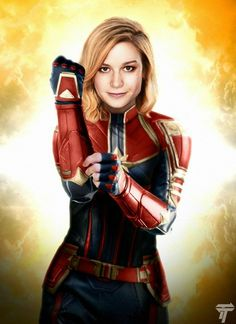 Brie Larson as Captain Marvel Marvel Comics, Marvel Dc Movies, Marvel Fan, Marvel Characters, Marvel Heroes, Marvel Avengers, Marvel Universe, Marvel Trailers, Karin Uzumaki