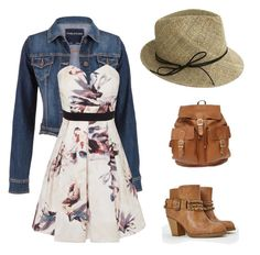 County Fair / casual by werauck on Polyvore featuring polyvore, fashion, style, Little Mistress, maurices, JustFab, Justine Hats and clothing