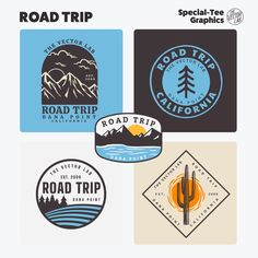 Road Trip - TheVectorLab Road Vector, Store Signage, Affinity Photo, Affinity Designer, Graphic Design Software, Photoshop Illustrator, Coreldraw, One Design, Graphic Design Inspiration