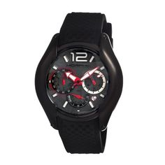 Morphic Men's 'M3.5 Series Strap' Swiss Quartz Stainless Steel and Silicone Watch, Color:Black (Model: MPH0308) by Morphic -- Awesome products selected by Anna Churchill