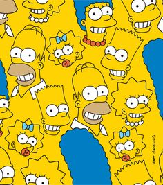 The Simpsons College Cotton FabricThe Simpsons College Cotton Fabric,