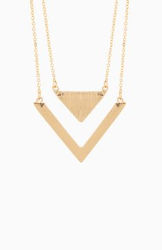 Love Triangles Necklace. Shop now at DailyLook!