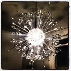 I've been trying to hack an IKEA chandelier into a serviceable, modern, Sputnik-style chandelier for over a year now