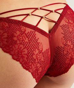 LA BELLE ÉTOILE Culotte Mini-coeur Rouge Garance | Aubade