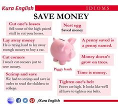Idioms to save money