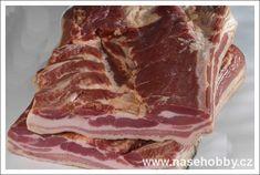 uzený bůček Food 52, Bucky, Pork, Food And Drink, Homemade, Breakfast, Recipes, Meat Products, Syrup