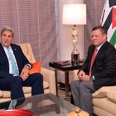 Secretary of State John Kerry meets with King Abdullah of Jordan in New York (310900)