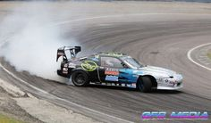 Nissan drift car at @lyddenhill sponsored by 360ringz