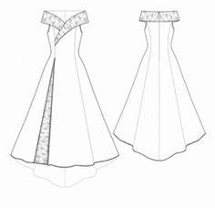 Vestido de novia (con moldes, patrones)