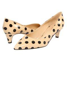 Kate Spade New York Scene Beige Dot Patent Heels