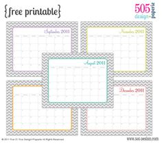 Free Calendar {with editable text areas}