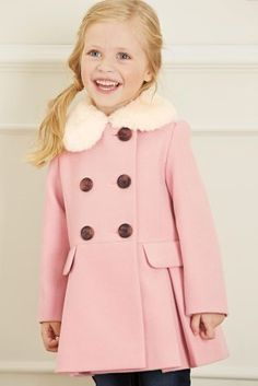 Next Girls Pink Coat - Coat Nj