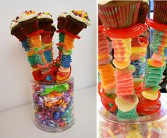 Birthday Candy Kabobs... Love this idea for a kids birthday party!!!!