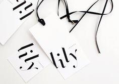 fashion tag branding for fashion label lily by achi. bespoke logotype inspired by didot italic. Web Design, Label Design, Print Design, Design Files, Package Design, Fashion Tag, Fashion Labels, Trendy Fashion, Bespoke