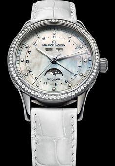 Discover the Maurice Lacroix Phases de Lune Automatique Ladies watch - Presentwatch.com