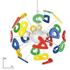 Sospensione lampadario moderno da cameretta per bambini letterine  camerette