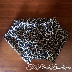 Cheetah Shorties by Theplushboutique on Etsy https://www.etsy.com/listing/231437417/cheetah-shorties