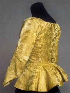 This silk jacket shows many of the sewing techniques mastered by tailors in the 1700th c.