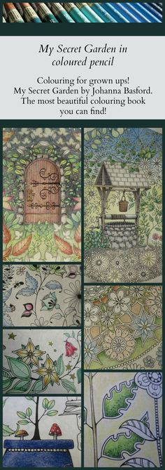 The last few weeks I have enjoyed many hours of happy colouring! I'm taking my time with Johanna Basford's colouring book so I've finished only one page yet! I waited a while continuing colouring 'The Secret Door' because I wasn't sure how I wanted to continue the drawing, which colours I wanted to use, etc. And I bought a new pencil sharpener. No more blunt pencils for me!