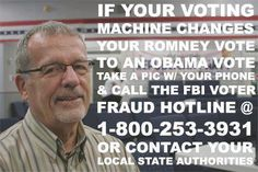If your voting machine changes your vote, call the FBI fraud line. #whyivote
