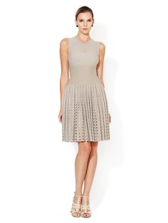 Eyelet Wool V-Neck Dress by Azzedine Alaïa at Gilt