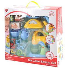 Kids' Cooking Kits - PlayGo My Cake Baking Set  19 Pieces  Real Working Scale  Mixer -- Be sure to check out this awesome product.