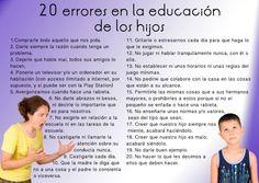 Los 20 errores en la educación de los hijos tabién los pueden leer aquí: http://www.enlacejudio.com/?p=152664
