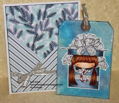 An adorable tag with a matching envelop created by card designer Kelli Green. She is using the digital stamp Emo in a gift box. Making Cards, Digital Stamps, Emo, Color Schemes, Envelope, Create, Green, How To Make, Gifts