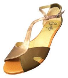 Seychelles T-strap Sandal Olive / Gold Sandals $43