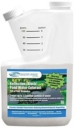 Pond water colorants are essential once water clarity has been achieved using healthy ponds products * Shades pond and limits sunlight penetration, reducing weeds and algae; within 24 hours pond will take on a beautiful appearance that reflects the sky * Safe for fish, plants, pets and humans; made from certified food quality dyes * The tilt n pour's easy to use built-in measuring chamber allows you to custom-measure the needed amount of dye for your pond * (Placed within the Amazon Associat