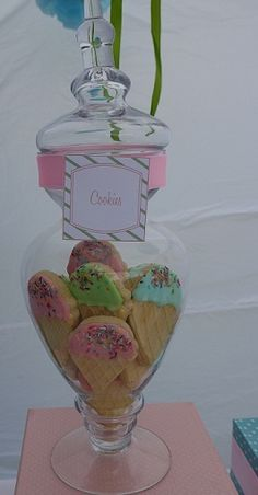 Ice Cream Cone Cookies at an Ice Cream Party #icecream #party