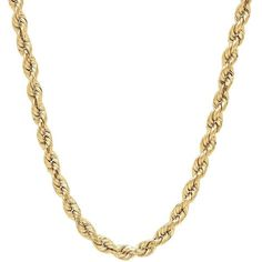 Everlasting Gold 14k Gold Rope Chain Necklace ($1,450) ❤ liked on Polyvore featuring jewelry, necklaces, gold, gold rope chain necklace, chains jewelry, chain necklaces, 14 karat gold necklace and 14k yellow gold necklace