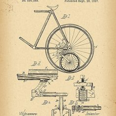 1897 Patent Bicycle