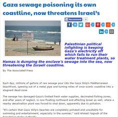 """La entidad """"Palestina"""" ignorando completamente la legislación internacional en lo que a medio ambiente se refiere esta vertiendo en el precioso Mar Mediterraneo miles de toneladas de re…"""