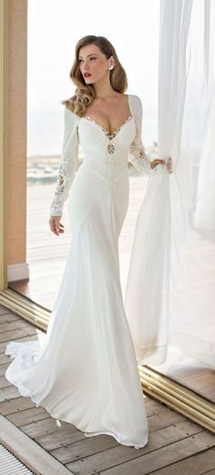 Julie vino spring summer 2014 white gown