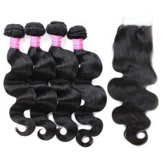 【Bundles With Closure】Mink Hair Grade Virgin Brazilian Body Wave Hair Bundles Deals With Lace Closure 4 Bundles Cheap Brazilian Body Wave Remy Hair Weave real hair extensions With Closure Best Weave Hair, Hair Websites, Hair Bundle Deals, Real Hair Extensions, 360 Lace Wig, Body Wave Hair, Brazilian Body Wave, Lace Closure, Virgin Hair