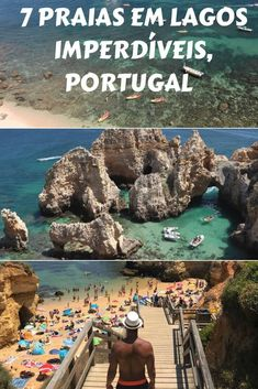 From the city center to Ponta da Piedade, the western edge of the city, here are 7 must-see beaches in Lagos. Some of the best beaches in Algarve, Portugal Portugal Travel Guide, Europe Travel Guide, Spain Travel, Portugal Vacation, Travelling Europe, Traveling, Algarve, Visit Portugal, Spain And Portugal