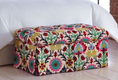 One Kings Lane - Furniture in a Flash - Kieran Storage Bench, Pink/Multi