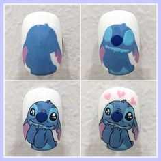 Disney Acrylic Nails, Summer Acrylic Nails, Disney Nails, Best Acrylic Nails, Pretty Nail Art, Cute Nail Art, Nail Art Vernis, Nail Manicure, Nail Drawing